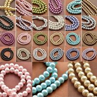 4mm 6mm 8mm 10mm 12mm Loose Round Glass Pearl Spacer Beads SP Jewelry Making Hot