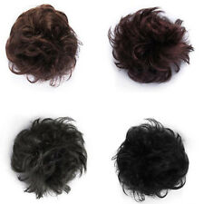 Natural Look Synthetic Elastic Scrunchie Curly Bun Hair Piece Hair Extension JP