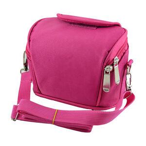 APS Pink Camera Case Bag for Hitachi 16MP Bridge Camera