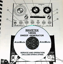 Wavetek 1402a Sweep Generator Service Amp Ops Manual