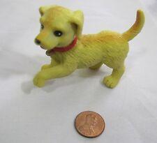 Dollhouse PLAYFUL WALKING YELLOW DOG PET PUPPY RED COLLAR 2006 Mattel Barbie