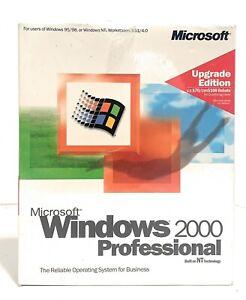 Microsoft Windows 2000 Professional Upgrade Edition Retail (B23-00082) Brand New
