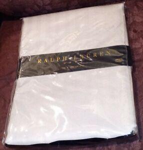 "Ralph Lauren TUXEDO STERLING Gray Silver Cloth Tablecloth 70"" X 104"" Oblong New"