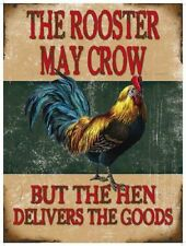 Rooster May Crow, Comedy Chicken, Funny Kitchen Classic, Quality Fridge Magnet