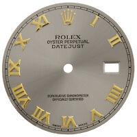 Factory Original Rolex DateJust 36mm Quick Set Gray Slate Roman Dial Ref.# 16013