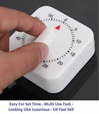 Mechanical Timer Game Count Down Counter Alarm Cooking Tool Gadget 1Hr/60Min_UK