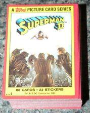 . Topps 1980 SUPERMAN 2 - Superman II - 88 card base set -Clean set no wax / gum