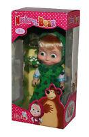 Mascha und der Bär-Masha and The Bear-Mascha-Puppe mit Kleid grün-12cm-neu-OVP