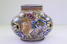 Poole Pottery Vase ANNE HATCHARD Hand Painted Art Deco #424