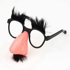 Glasses Mustache Fake Nose Clown Fancy Dress up Costume Props Fun Party Favor LO