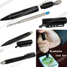 Aluminum EDC Tactical Pen Glass Breaker Kubaton Self Defense Military Combat #MR