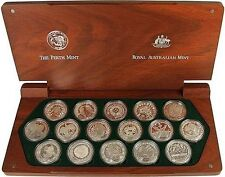 2000 SYDNEY OLYMPIC GAMES Coin Set 16 x SILVER PROOF $5 coins