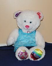 Build a Bear TWINKLE TOES Light Up White Bear w/ Peace Heart Blue Top & Jeans