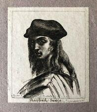 Eau Forte Originale XVIIIe de Dominique Vivant DENON - Raphaël Raffaello Sanzio