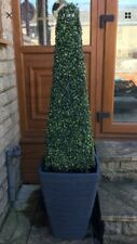 120cm  4ft Artificial Pyrimid Tree X2 With Small Black Pot