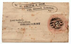 Penny pink - Advertising news paper wrapper W.H. Smiths & son Foreign branch pmk