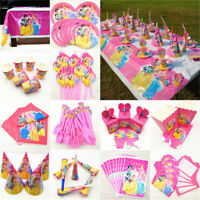 Disney Princess Birthday Party Supplies Tablecloth  banner cups  plates napkins