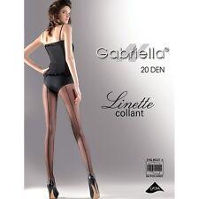 Gabriella Linette Back Seam Tights Large Black 20 Denier