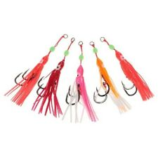 5PCS Luminous Soft Rubber Squid Fishing Gear Fishing Tuna Bait Lure Fake Bait#