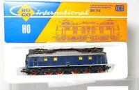 ROCO 4141b H0 LOCOMOTORA ELÉCTRICA BR 118 014-0 de DB, azul, MUY BUEN