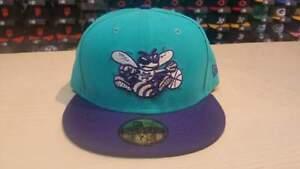 New Era NBA Charlotte Hornets Team 2 Tone Old School Logo 59FIFTY Cap Hat NewEra