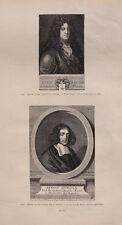 Jean racine-baruch de Spinoza-doble Portrait-original 1885