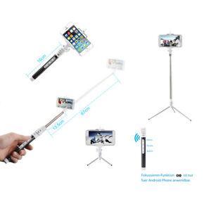 Bluetooth Selfie Set mit Hand-Stativ Halterung Teleskop Stange für Smartphone