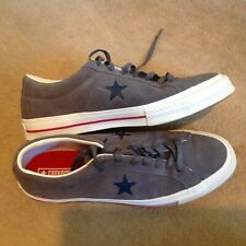 MEN'S CONVERSE SUEDE TRAINERS SIZE 12 GREY IN COLOUR WORN ONCE..!!