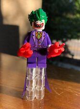 GENUINE LEGO DC BATMAN THE SMILE JOKER MINIFIGURE w/ Dynamite & Long Coattails