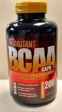 MUTANT - BCAA - 200 CAPS - BRANCHED CHAIN AMINO ACID - Exp 4/2020