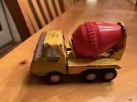 Vintage Tonka Mini Cement Mixer Truck Pressed Steel 1970's Red & Yellow