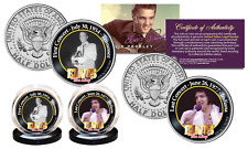 ELVIS PRESLEY First/Last Concert JFK Half Dollar 2-Coin Set OFFICIALLY LICENSED