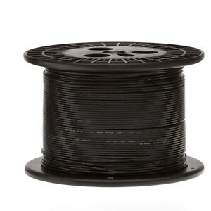 16 AWG Gauge Black 200' FT UL1430 Tinned Copper Hook Up Primary Wire USA MADE