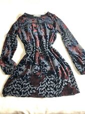 Abecrombie & Fitch Party Dress Black with Red Flowers size S