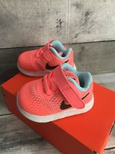 NIKE FREE RN 2C BABY SHOES LAVA GLOW/METALLIC SILVER NEW WITH BOX