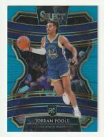 2019-20 Panini Select Prizm Blue Rookie RC Jordan Poole SP /299 #94 Warriors