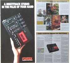 FOSTER X15 MULTITRACK STUDIO BROCHURE 1984