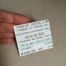 RARE 'Faith No More' CONCERT Ticket STUB~Melbourne 1993 'TOURING On Angel DUST'