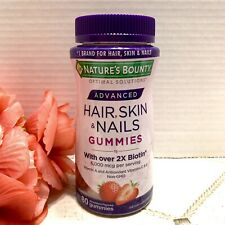 Nature's Bounty ADVANCED HAIR, SKIN & NAILS Gummies With 2x Biotin 80 Count