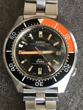 NOS Breil Manta Professional Diver 1000 Metri Meter Rare Diving Watch 100 Bars