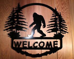 BIGFOOT Squatch Welcome Sign Plasma Cut Metal Wall Art Sasquatch Yeti