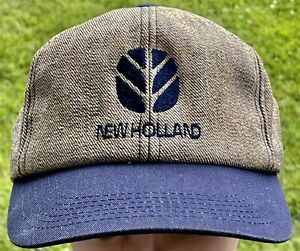 K-Products New Holland Cap-Hat Snapback Blue Bill Multicolored Body Gently Worn