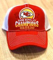 KANSAS CITY CHIEFS SUPERBOWL CHAMPIONS Patch Style Cap Hat 2019 54 LIV RED WHITE