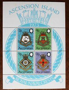 Ascension – 1973 Naval Crests – Minisheet – UM (MNH) (R3)