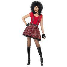 80s Tartan Punk Rocker Tutu Braces Gloves Ladies Womens Fancy Dress Accesssory