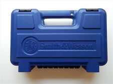 S&W Smith & Wesson New Style Large Blue Plastic Pistol Case Box, NEW