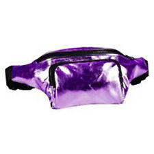 80's Style High Shine Bum Bag - 80's Fancy Dress - Purple