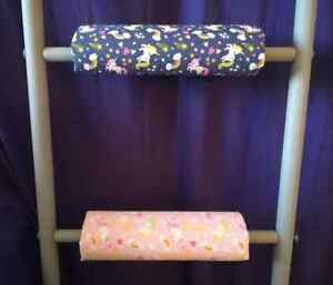 PINK UNICORNS Padded Bunk Bed Ladder Rung Covers *No-Tool Install* Safe,Non Slip