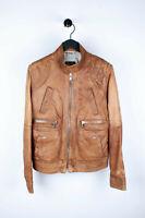 Original Dolce&Gabbana D&G Leather Sand Men Jacket in size 46 ITA