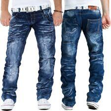 Kosmo Lupo Herren Jeans Hose Freizeit Streetwear Clubwear Besonderes Design Dope